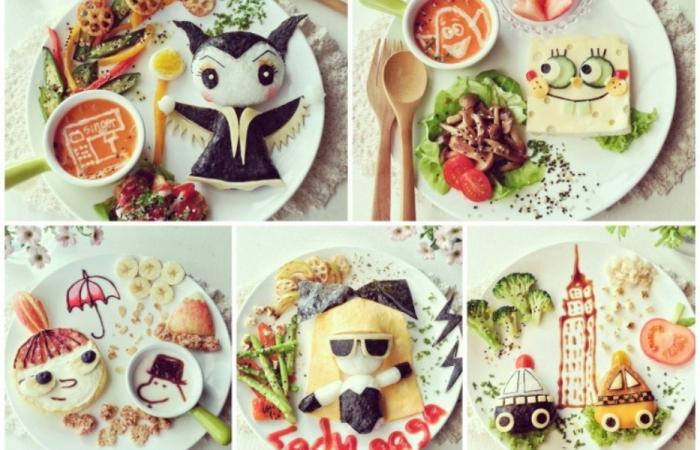 Креативные детские завтраки.