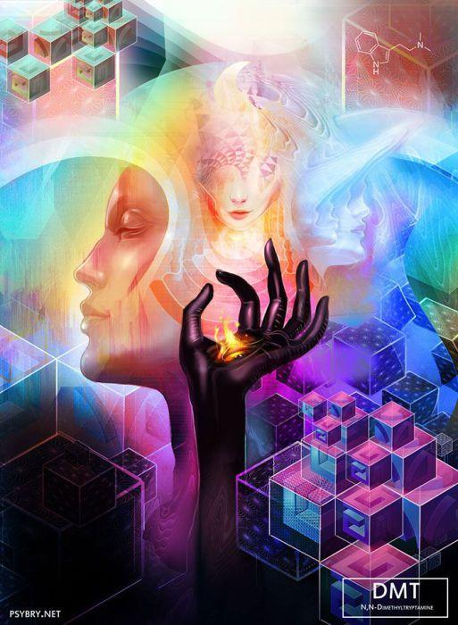 Психоделические работы, созданные под воздействием наркотических средств. Автор: Брайан Поллетт (Brian Pollett).