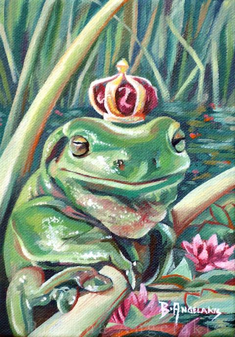 Принц-лягушка.  Автор: Brianna Angelakis.