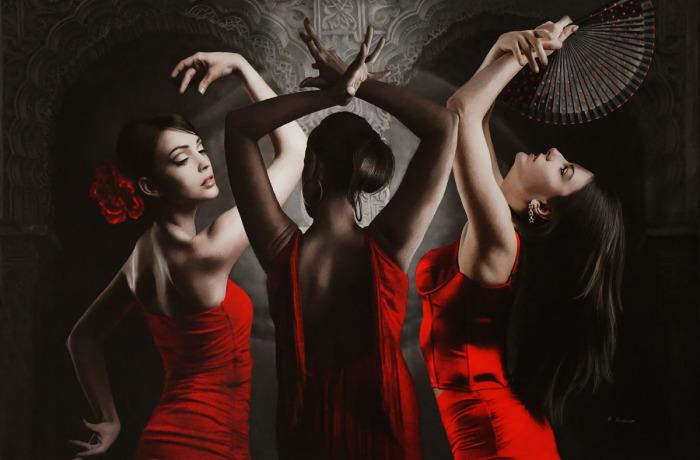 Танец трёх граций. Автор: Brita Seifert.