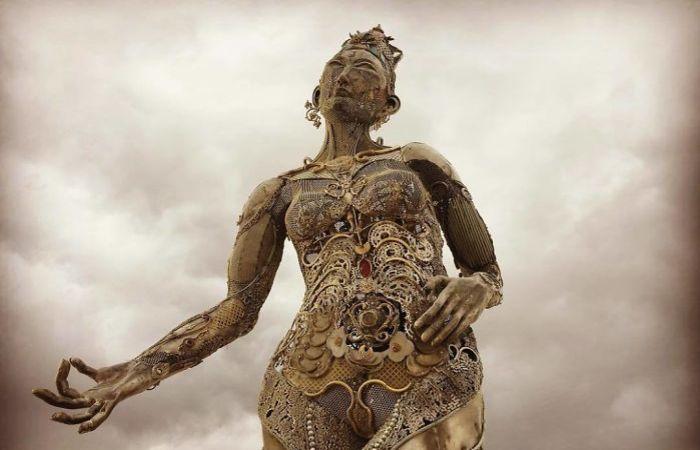 Статуя с фестиваля Burning Man 2017.