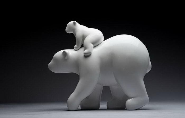Белые медведи. Автор: Byun Dae-Yong.