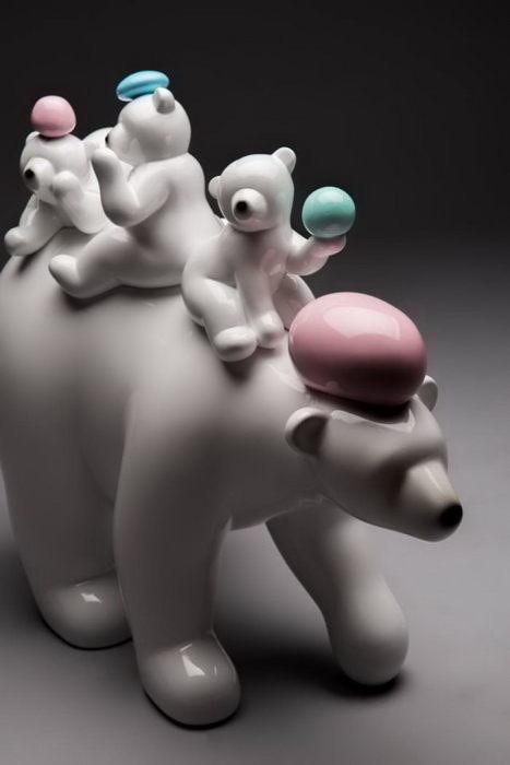 Лакомство для медвежат. Автор: Byun Dae-Yong.