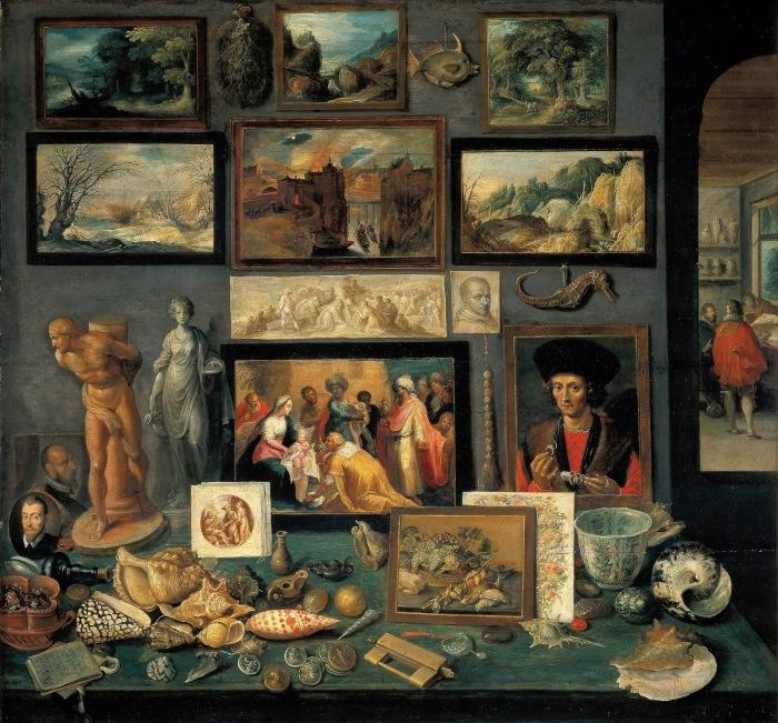Кабинет искусств и курьезов, Франс Франкен Младший, 1620-1625 гг. \ Фото: blogspot.com.