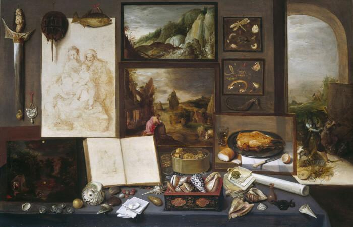Кабинет коллекционера Франса Франкена, 1617 год. \ Фото: cs.wikipedia.org.