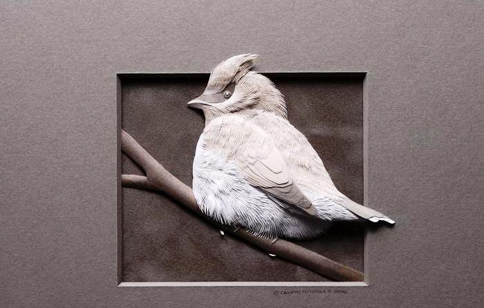 Бумажные скульптуры. Автор: Calvin Nicholls.