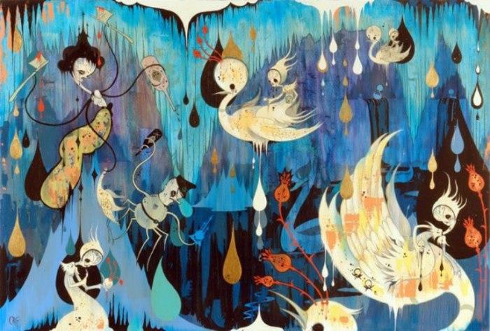 Психоделическая живопись. Автор: Camille Rose Garcia.