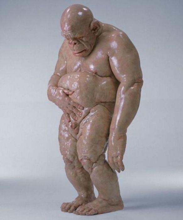 Примат без кожи. Автор: Cao Hui.