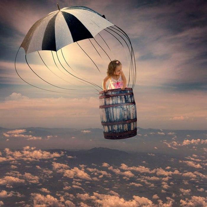 Полёт на воздушном шаре. Фотохудожник  Караш Йонуц (Caras Ionut).