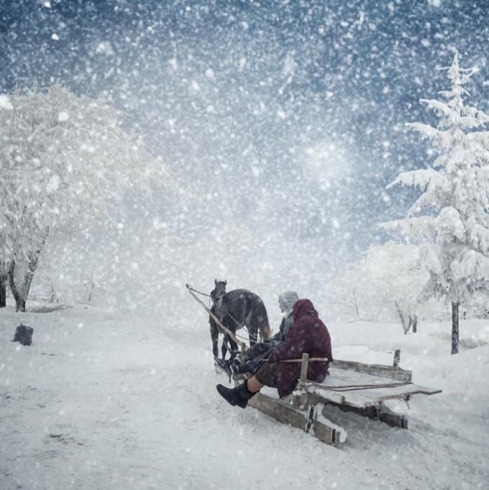 Сани. Фотохудожник  Караш Йонуц (Caras Ionut).