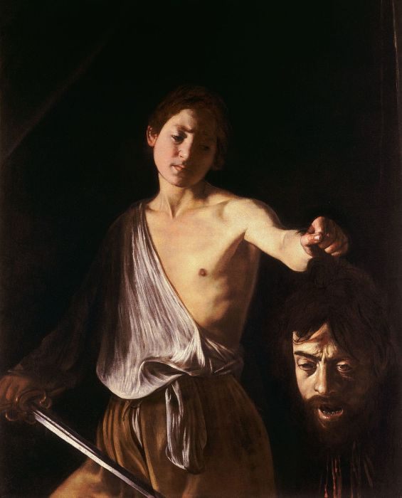 Давид с головой Голиафа.
