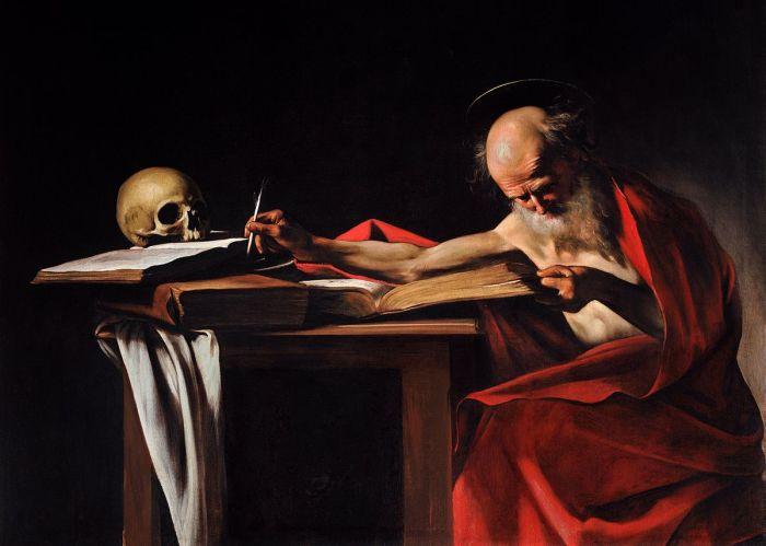 Пишущий Святой Иероним.