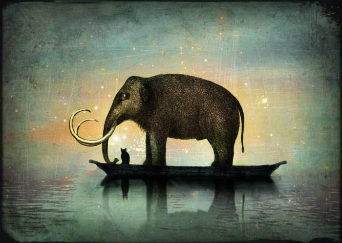 Стильное ретро и тонкий сюрр на картинах, которые напоминают таинственно-мистические новеллы