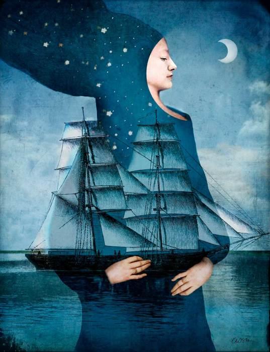 Сумеречный корабль. Автор: Catrin Welz-Stein.