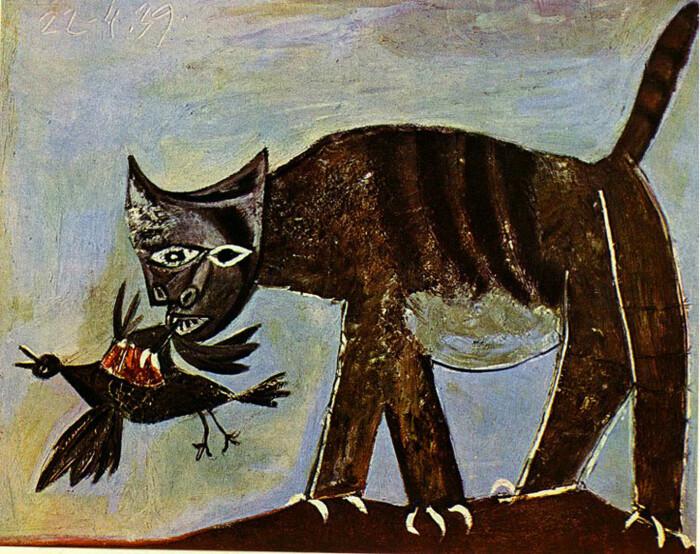 Пабло Пикассо – Кошка, поймавшая птицу. \ Фото: art.ayay.co.uk.
