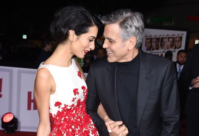 Джордж Клуни и Амаль Аламуддин. \ Фото: goalcast.com.