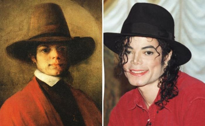 Майкл Джексон и Барент Фабрициус. \ Фото: 9gag.com.