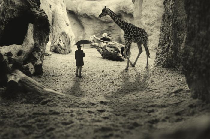 Противоестественный. Блестящий фотопроект о таинственном одиноком человеке. Автор фото: Сезар Блэй (Cesar Blay).