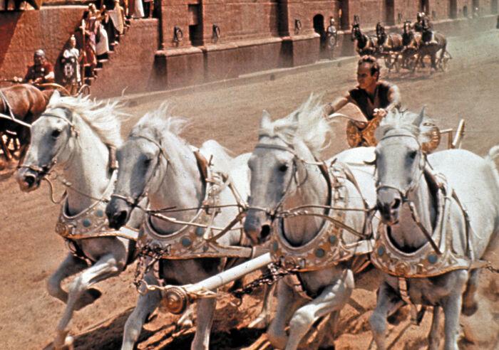 Сцена из фильма Бен-Гур, 1959 год. \ Фото: m.newspim.com.