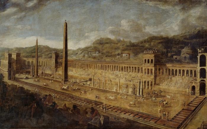 Большой цирк в Риме, Вивиано Кодацци и Доменико Гарджуло, ок. 1638 г. \ Фото: museodelprado.es.