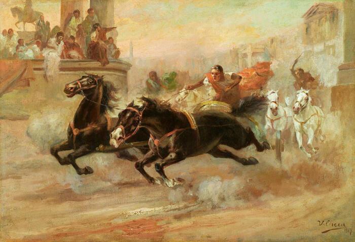 Гонка на колесницах, Ульпиано Чеки. \ Фото: pixels.com.