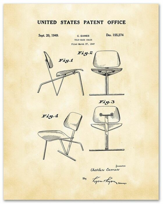 Наброски стульев, Чарльз Имз. \ Фото: museums.co.