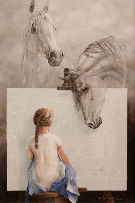 Маленькая художница. Автор: Chelin Sanjuan Piquero.