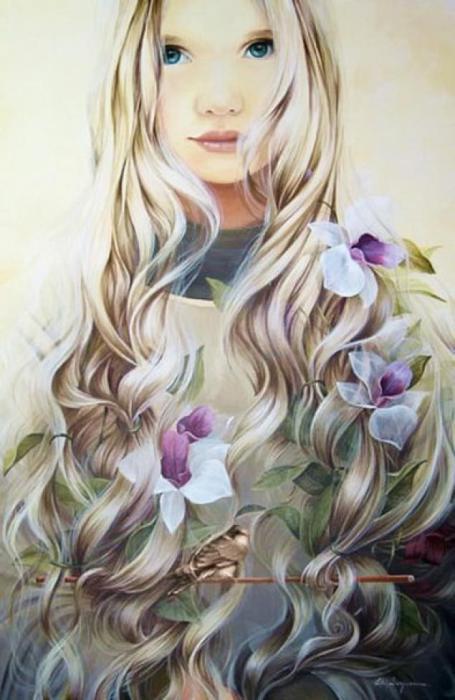 Первые цветы. Автор: Chelin Sanjuan Piquero.