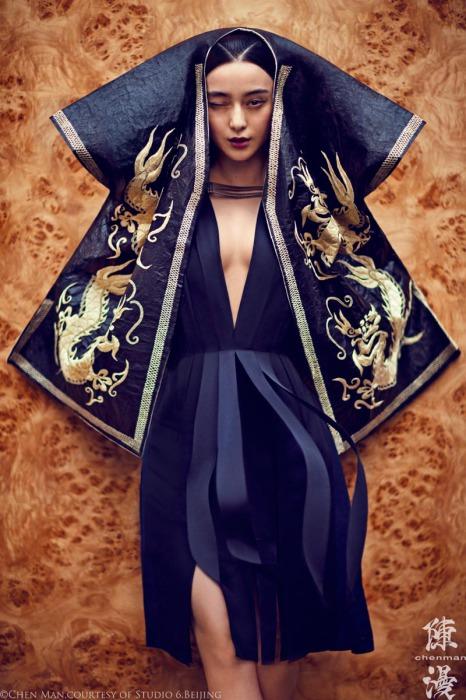 Традиционные китайские элементы. Яркие и эффектные снимки от фотографа Chen Man.