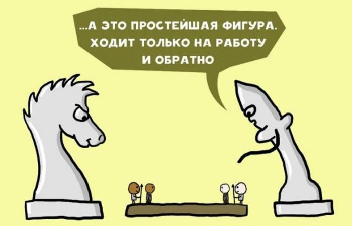 «Нарисуй шахматы, которые играют в людей». Автор: Chilik.