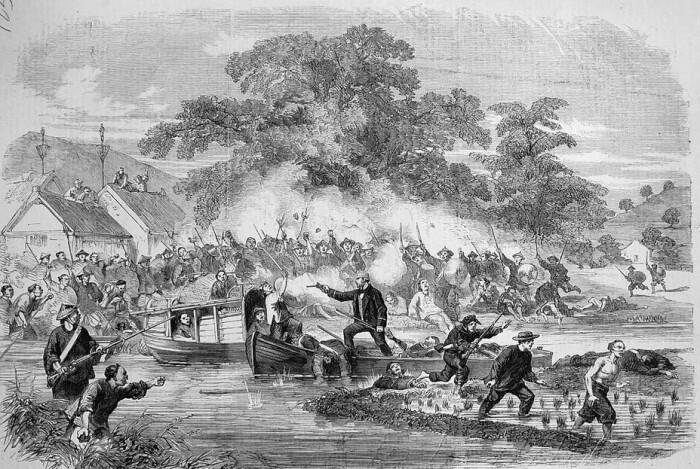 Бои на Жемчужной реке, европейская гравюра XIX века. \ Фото: livejournal.com.