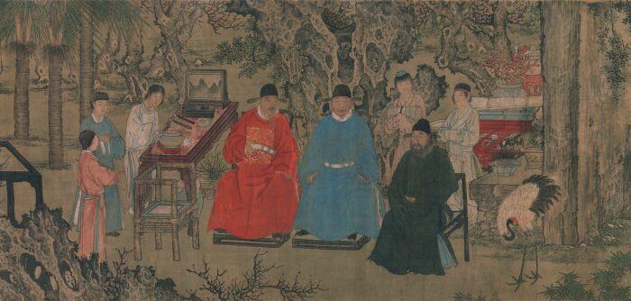 Элегантное собрание в Абрикосовом саду, Китай, Династия Мин (1368-1644 гг.). \ Фото: pinterest.com.