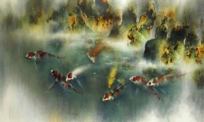 Акварельные рыбки. Автор: Ching Keck How.
