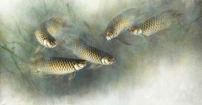 Сомы в пруду. Автор: Ching Keck How.