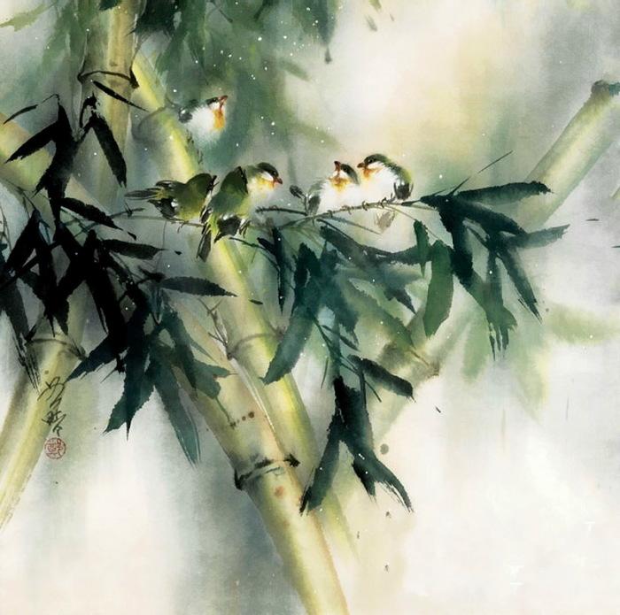 Бамбуковая веточка. Автор: Ching Keck How.