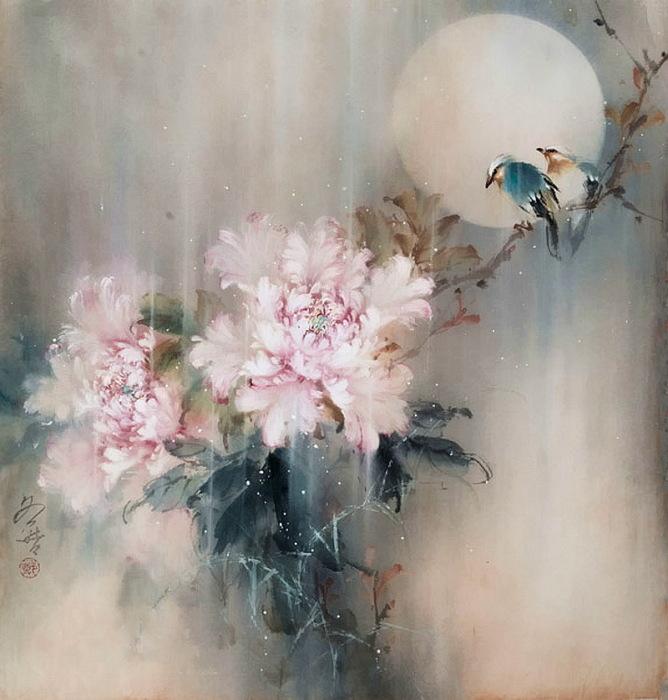 Нежные цветы. Автор: Ching Keck How.