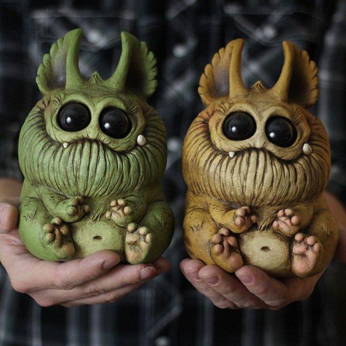 Вот такие очаровательные монстры, рождаются благодаря безудержной фантазии и воображению Криса Риньяка.