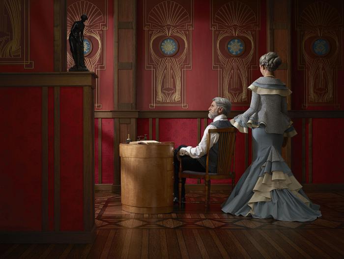Супружеская пара. Автор: Christian Tagliavini.