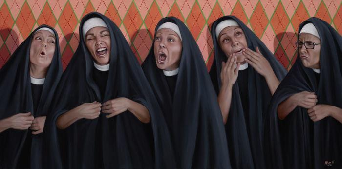 Был священник, раввин и монахиня. Автор: Christina Ramos.
