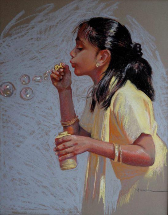 Мыльные пузыри. Автор: Christine Swann.