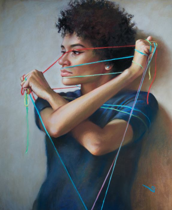 Разноцветные нити. Автор: Christine Swann.