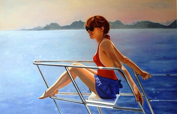 Чувственные женские образы на интригующих полотнах французской художницы