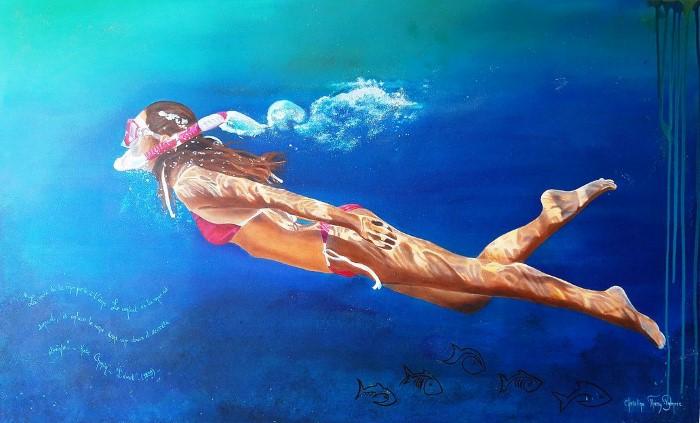 Под водой. Автор: Christine Thery Demore.