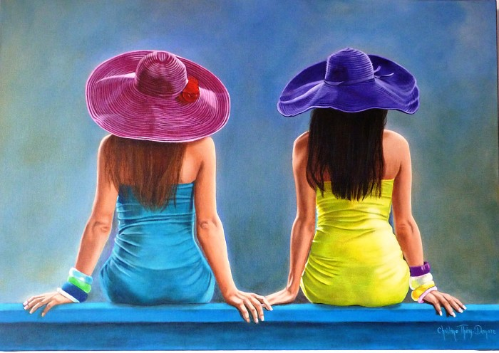 Разноцветное лето. Автор: Christine Thery Demore.