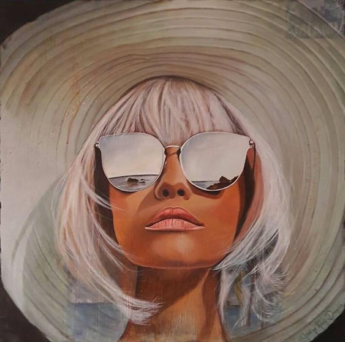 Зеркальные очки. Автор: Christine Thery Demore.