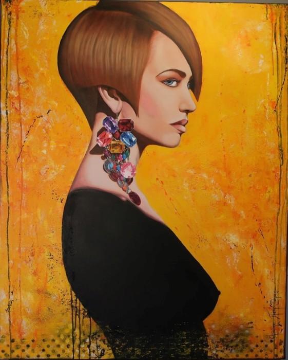 Девушка в чёрном. Автор: Christine Thery Demore.