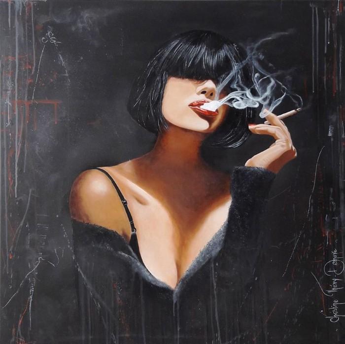 Дым сигарет. Автор: Christine Thery Demore.