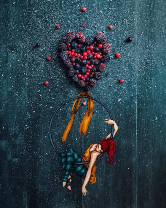 Акробатический этюд. Автор: Cinzia Bolognesi.