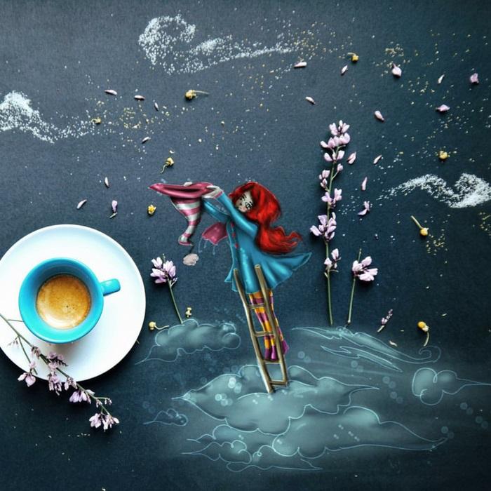 Ловец звёзд. Автор: Cinzia Bolognesi.