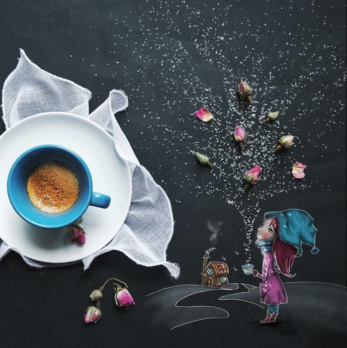 Зимний вечер. Автор: Cinzia Bolognesi.